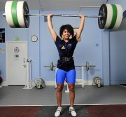 happy weight lifter